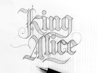 King Alice Title Lettering