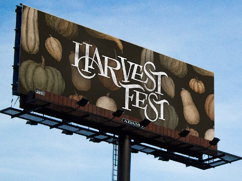Harvestfest billboard