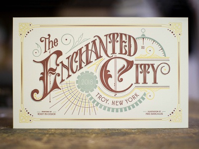 The Enchanted City victorian lettering city enchanted ornaments vintage letterpress steampunk