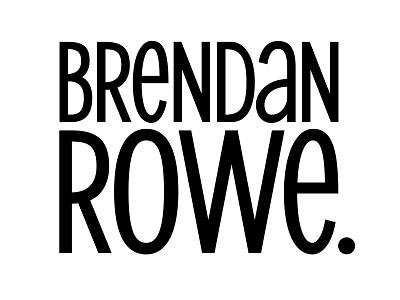 Brendan Rowe Logotype condensed sans serif comics comic writer branding agency branding lettering logotype