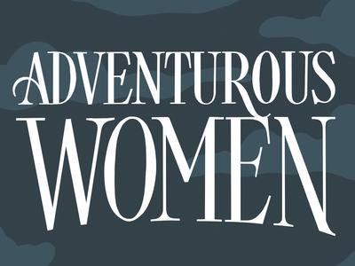 Adventurous Women Title Lettering