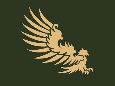 Eagle wings claws bird hawk minimal victorian vintage eagle illustration