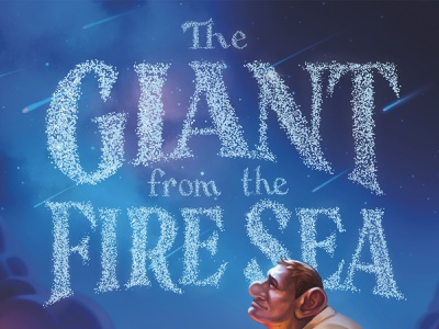 Giant from the Fire Sea - Lettering Concept handlettering type serif victorian stars giant book cover book title lettering