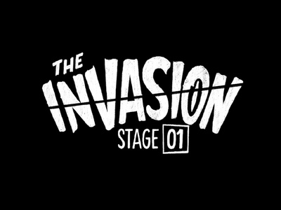 The Invasion vintage retro extraterrestrial alien invasion book cover title lettering type lettering