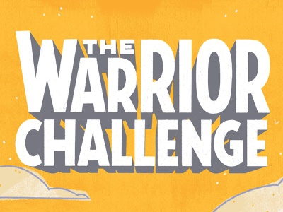 The Warrior Challenge cover design book lettering book title 3d type dimensional type sans serif lettering type