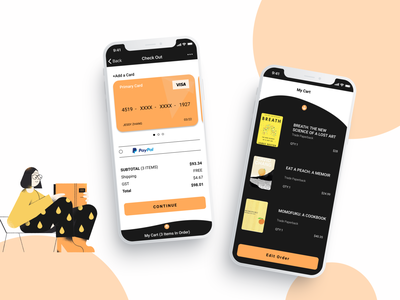 UI 002 (Credit Card Checkout) shopping app checkout form checkout page uichallenge illustration design app ux ui dailyuichallenge dailyui 002 dailyui