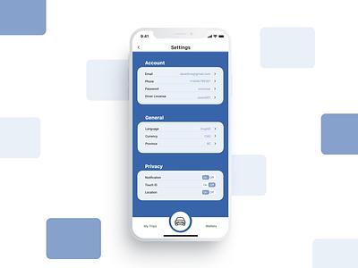 UI 007 (Setting) dailyuichallenge uxdesign settings settings ui settingpage dailyui007 design app ui dailyui