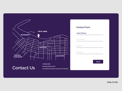 Web Contact Form #28 contact us contact page contact form web website branding mockup graphic uxdesign ui webdesign dailyui