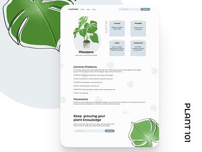 Plant Care website concept ui design illustration dailyui ui plant illustration plants website webdesign