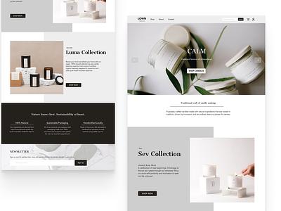 Candle Shop Home Page Design visualdesign homepage ecommerce design ecommerce webdesign ui