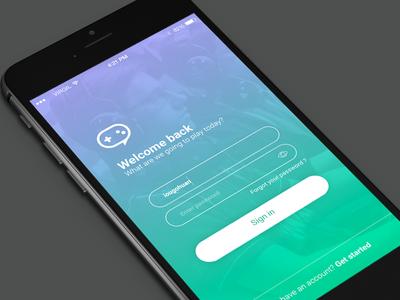 Login App - GG Talk -  #DailyUI 01