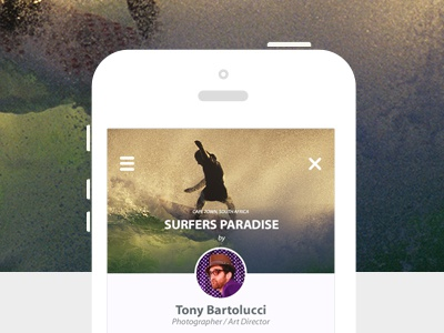 Landing Page landingpage iphone ios clean minimalist photo surfing sports ux ui modern apple
