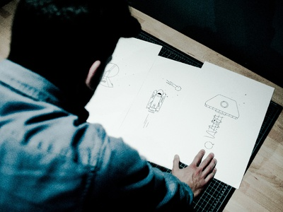 Loppist x Mario outline illustration feature interview shop ufo spaceship rocket space print
