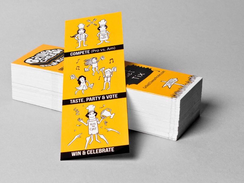 Grilled Cheese ProAm mega mega inc branding print bookmark community event illustration character promotional