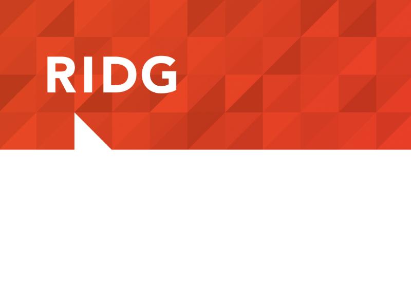 RIDG Letterhead Detail mega mega inc branding print letterhead postcard stationary pattern geometric