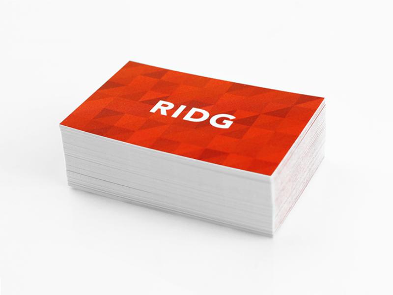 RIDG Business Cards mega mega inc branding print business card pattern geometric