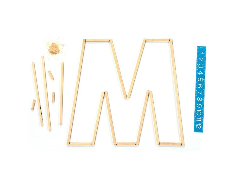 M mega mega inc letter type font m hands on wood build