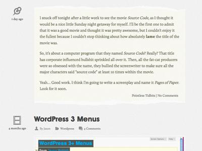 WordPress Post Format - Aside wordpress aside web design