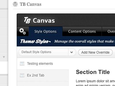 TB Canvas #2 wordpress web design themeforest ui