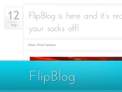 FlipBlog blog theme forest wordpress website theme template