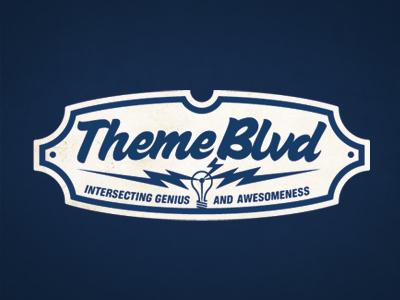 Theme Blvd Logo Comp #1 logo themeblvd theme forest retro old school