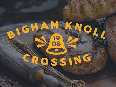 Bigham Knoll Crossing foodhall food oregon bell typography portland logo branding
