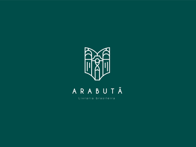 Arabutã - Brazilian Library vector logo illustrator illustration icon design branding