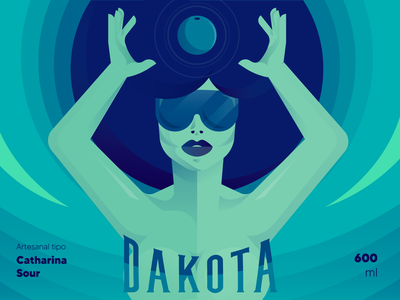 Dakota beer - Blueberry beer label beer art design vector illustrator illustration