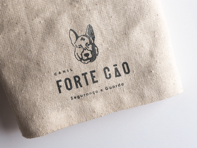 Forte Cão | Kennel photoshop german shepherd dog logo kennel dog logo design vector illustrator illustration