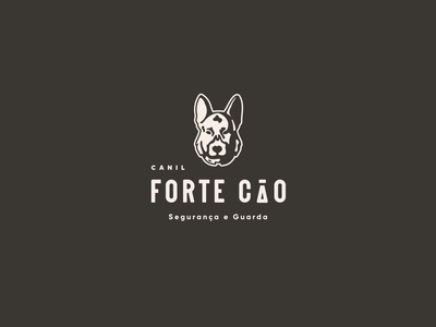 Forte Cão | Kennel kennel german shepherd dog logo dog icon branding art logo design vector illustrator illustration