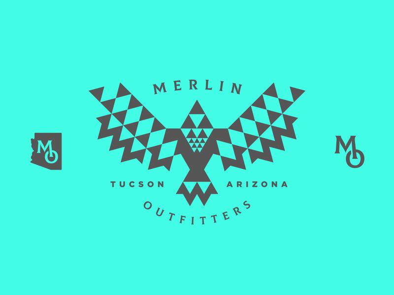 Merlin Outfitters eagle arizona bird mark branding brand illustration