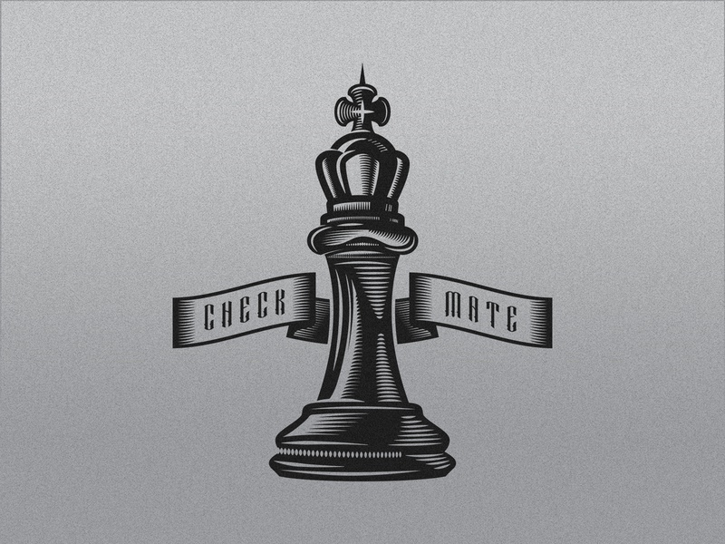 King Chess Piece check mate banner king chess texture illustration