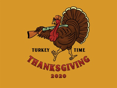 Turkey Time turkey day michigan texture true grit hunting thanksgiving illustration turkey