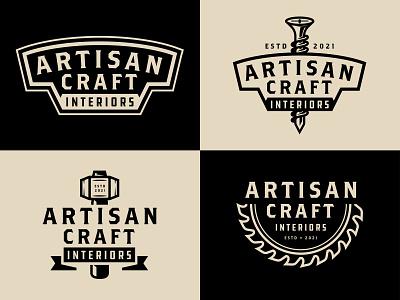 Artisan Craft | Comps building craft woodwork branding vector badge logo brand illustration