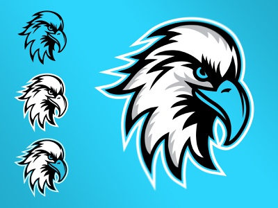 Eagle 4_color sports sports logo athletics vector eagle athletic illustration brand logo