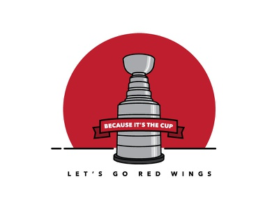 Let's Go Red Wings red wings stanley cup 25 playoffs hockey stanley