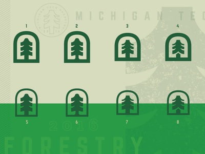 Forestry Icon (WIP) mockup badge concept icon pine tree