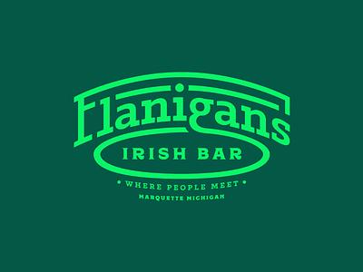 Flanny's word mark concept bar irish mark logo brand