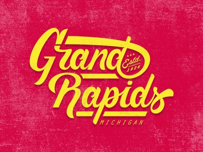 Grand Rapids Script brush pen grand rapids lockup michigan calligraphy lettering typography script
