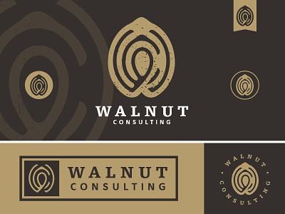 Walnut Consulting wc monogram icon mark logo brand illustration walnut