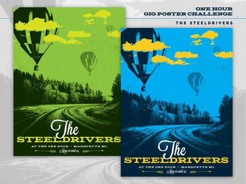 One Hour Gig Poster gig poster steeldrivers bluegrass band music poster