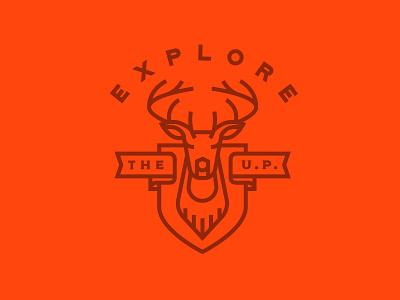 Explore The UP_2 up mount michigan badge deer buck monoline illustration explore
