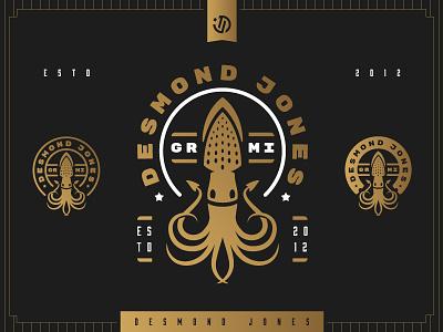 Desmond Jones icon music michigan mark logo patch band illustration badge squid