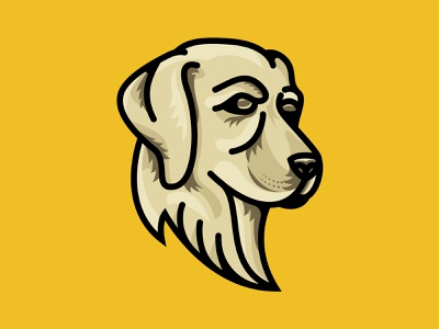 Cash michigan vector illustration brand dog puppy labrador labrador retriever yellow lab