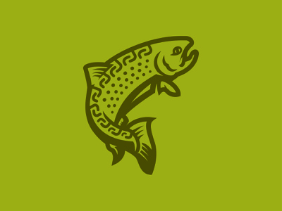 Trout Unlimited concept (WIP) fishing icon michigan fish trout print illustration branding