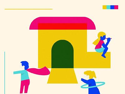 Kids new face - 04 flat design design art illustration art illustration face friends young cheerful boy little girl fun childhood