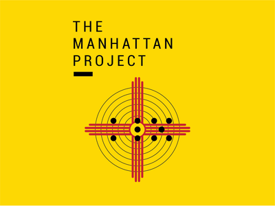 Manhattan Project history exercise historic atomic manhattan history typography illustration