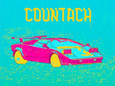 Countach retro car 80s lamborghini