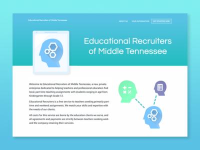 Educational Recruiters Dribbble web