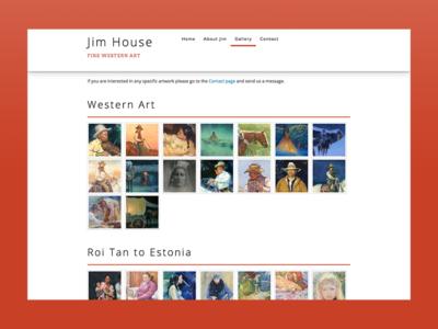 Jim House Art responsive web
